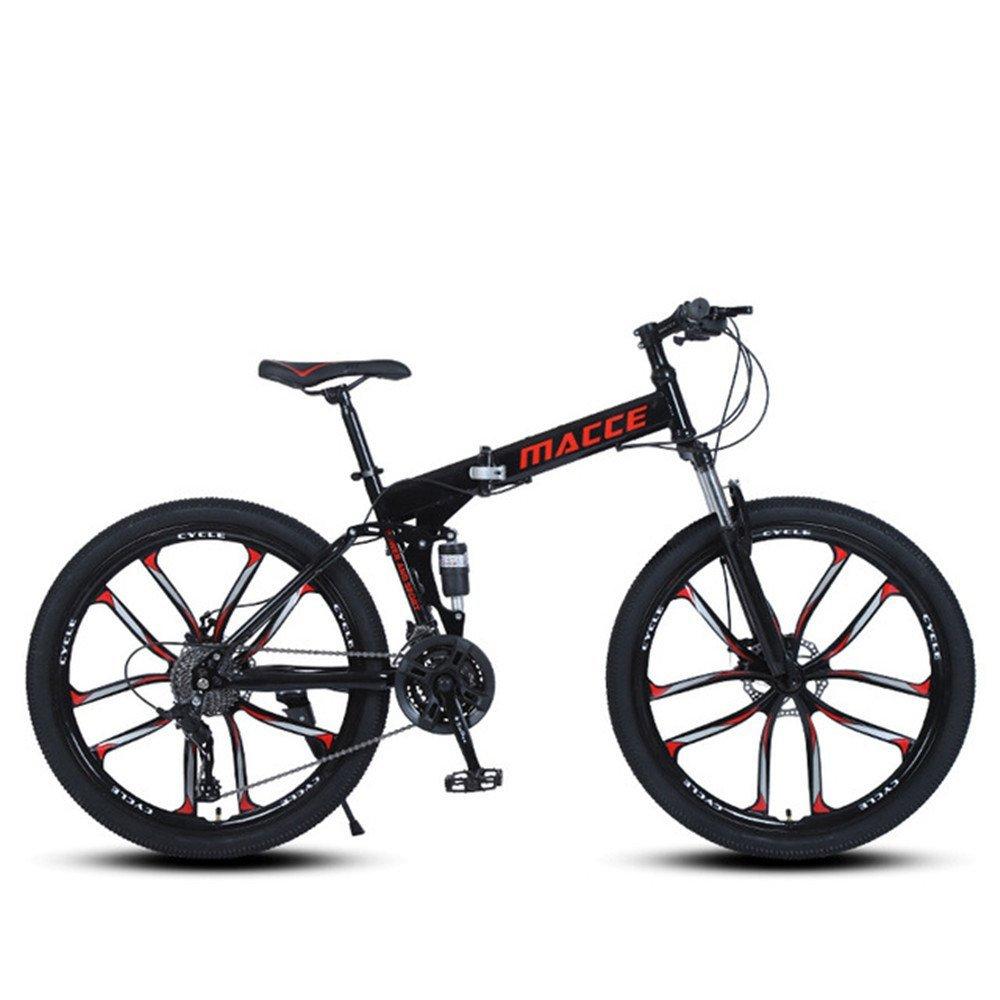 10 cutter wheels foldable mountain bike black