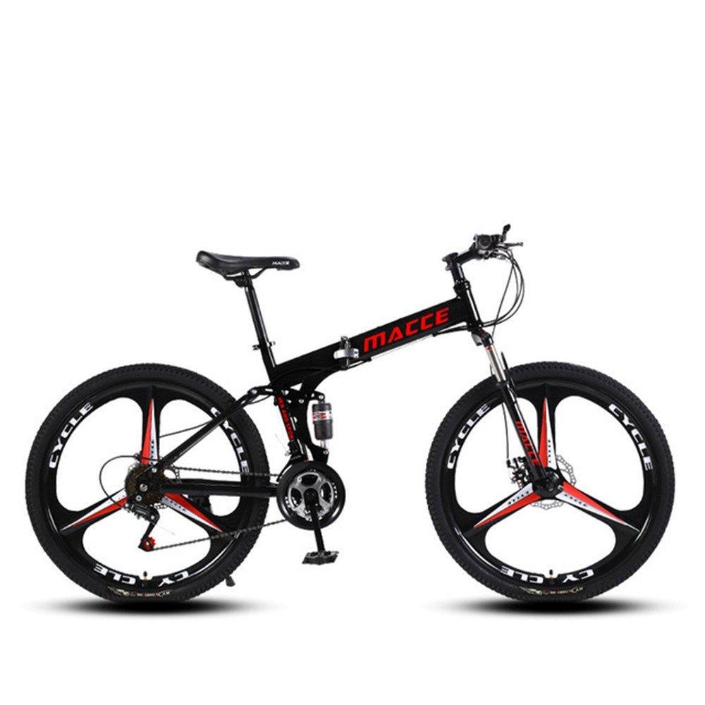 3 cutter wheel foldable mountain bike black