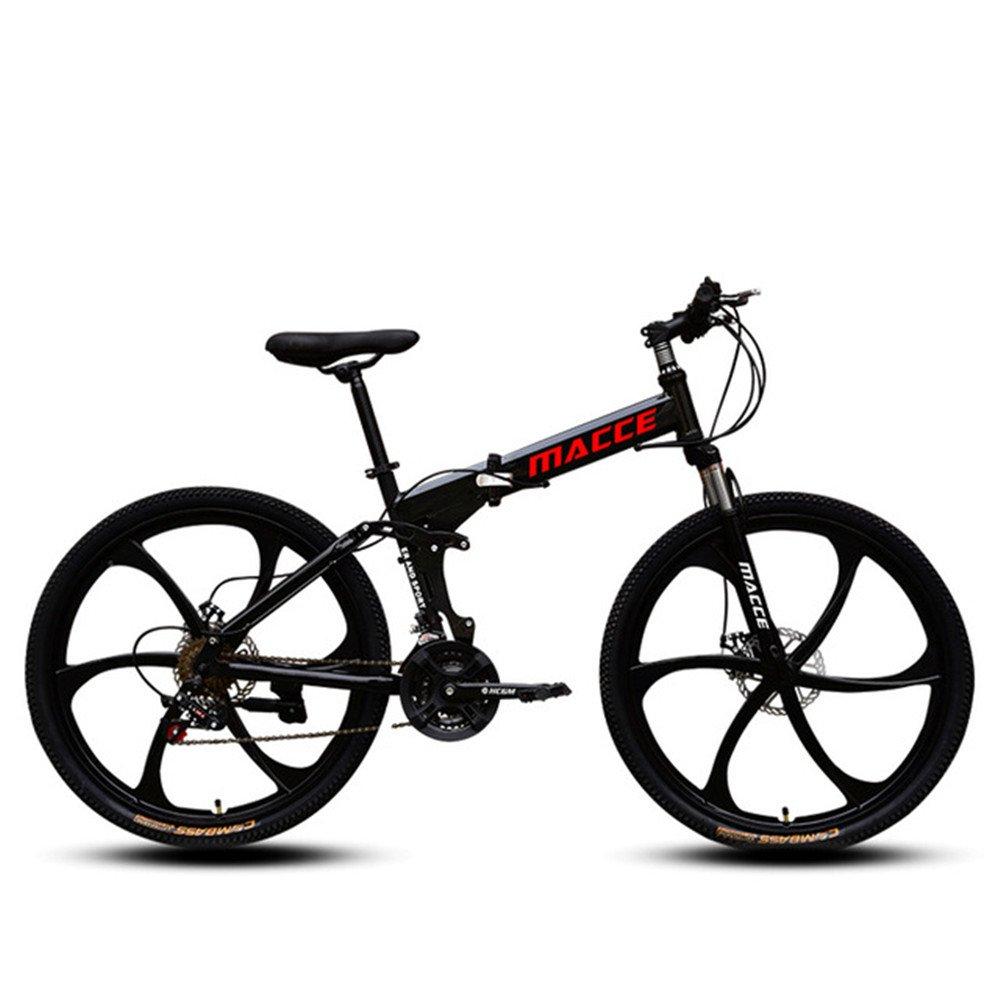 6 cutter weels foldable mountain bike black