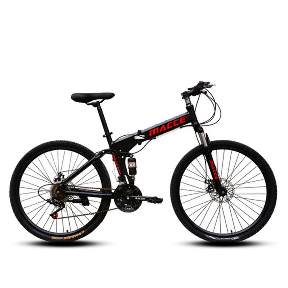 Spoke wheels foldable mountain bike black