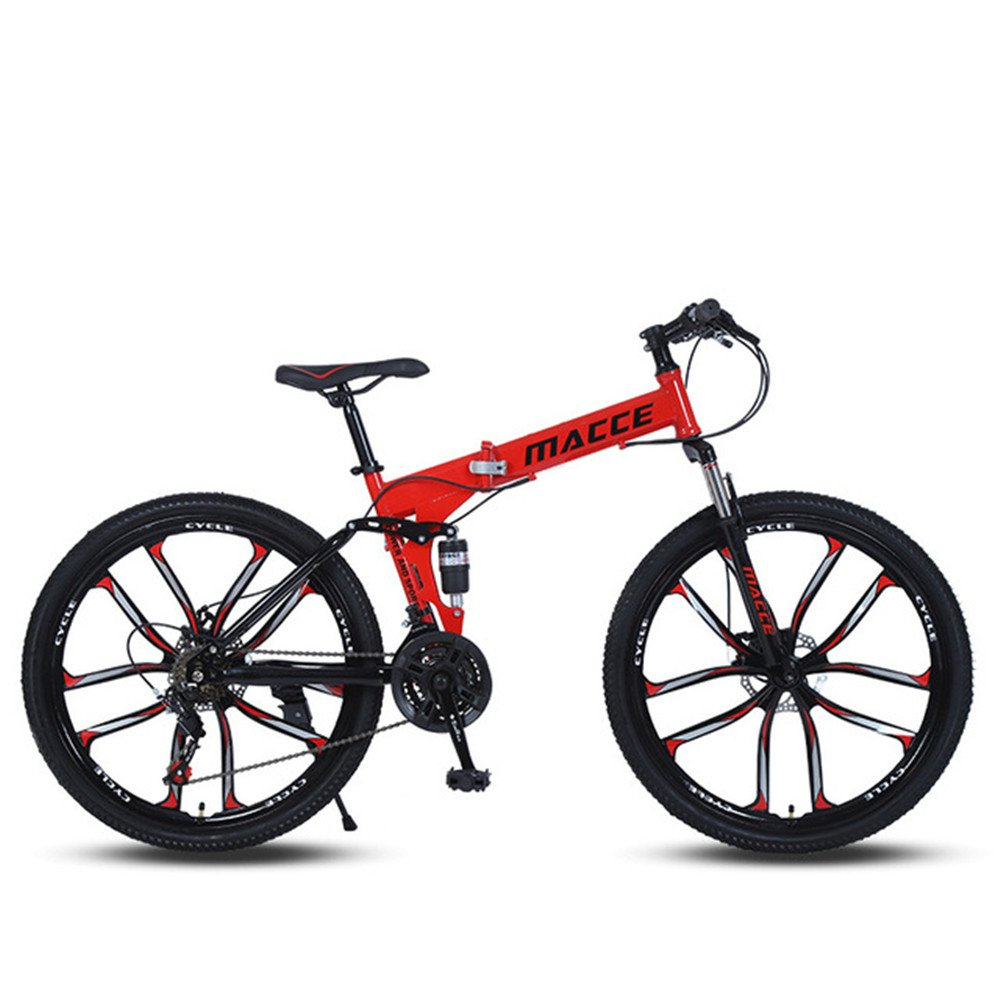 10 cutter wheels foldable mountain bike red
