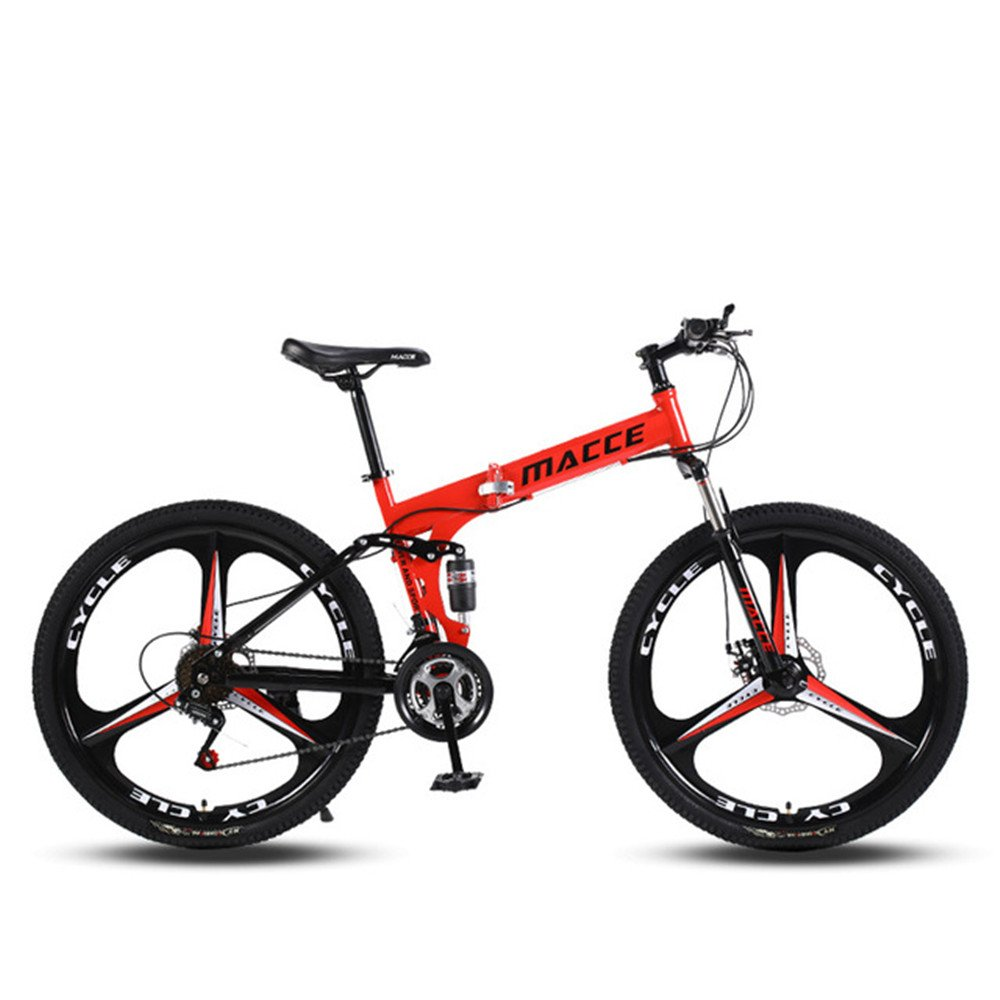 foldable mountatin bike 3 cutter wheels red