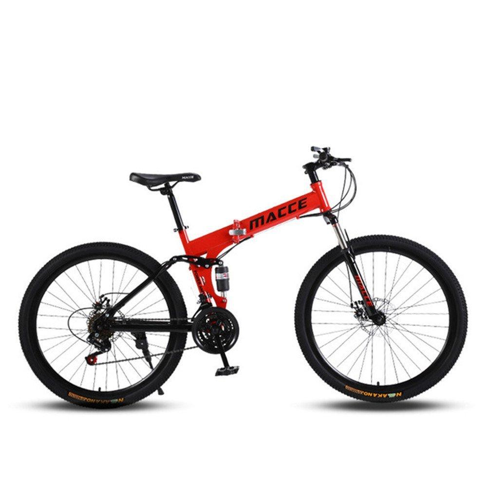 Spoke wheels foldable mountain bike red