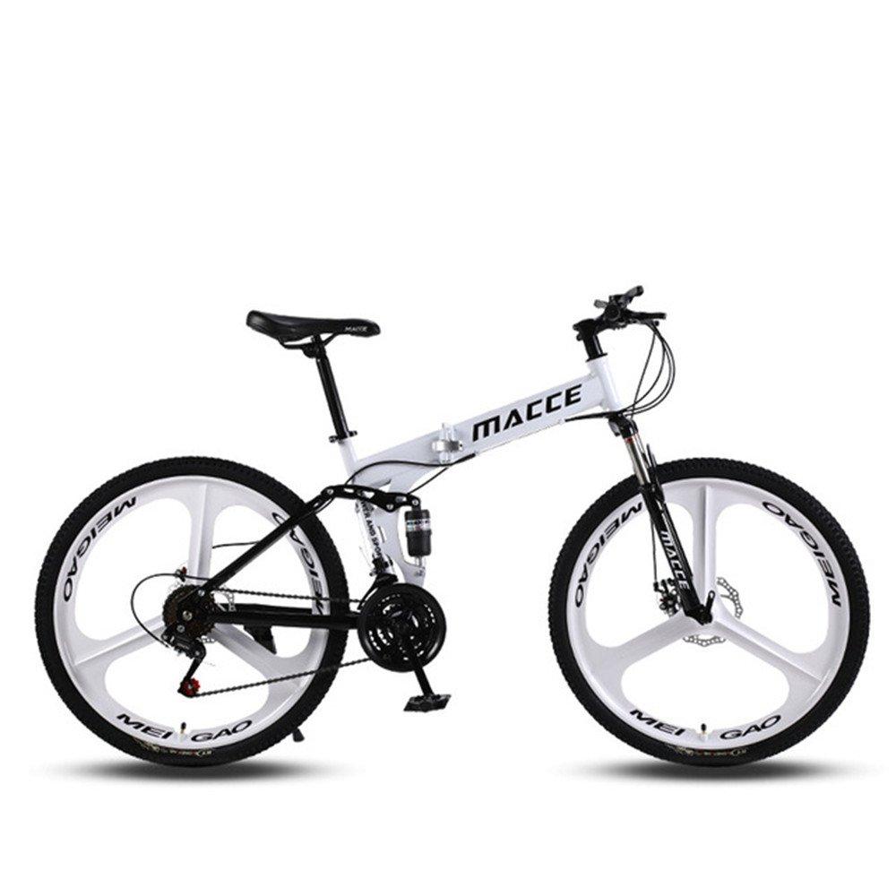 3 cutter wheel foldable mountain bike white