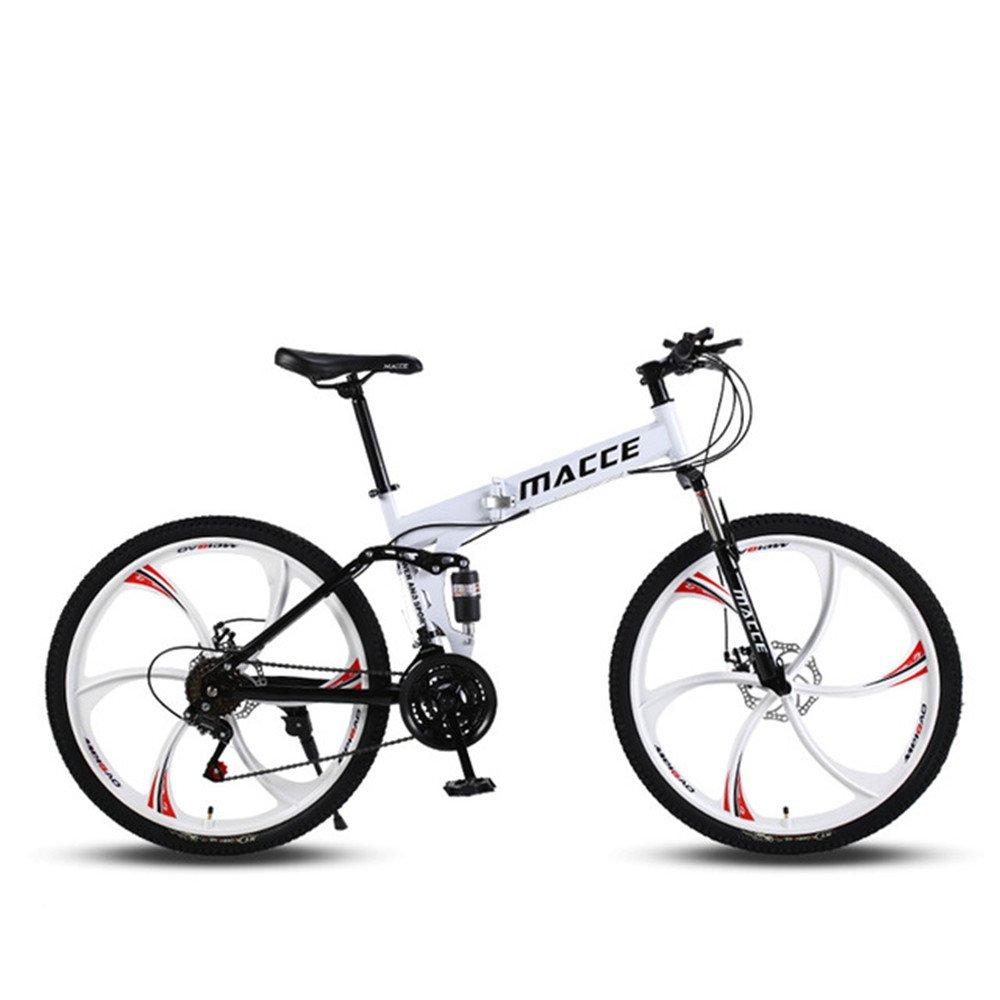 6 cutter wheels foldable mountain bike white