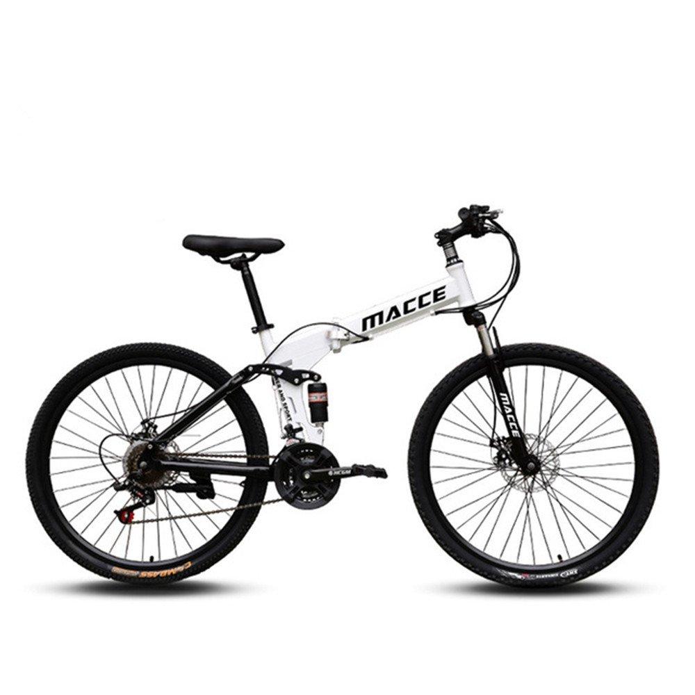 Spoke wheels foldable mountain bike white