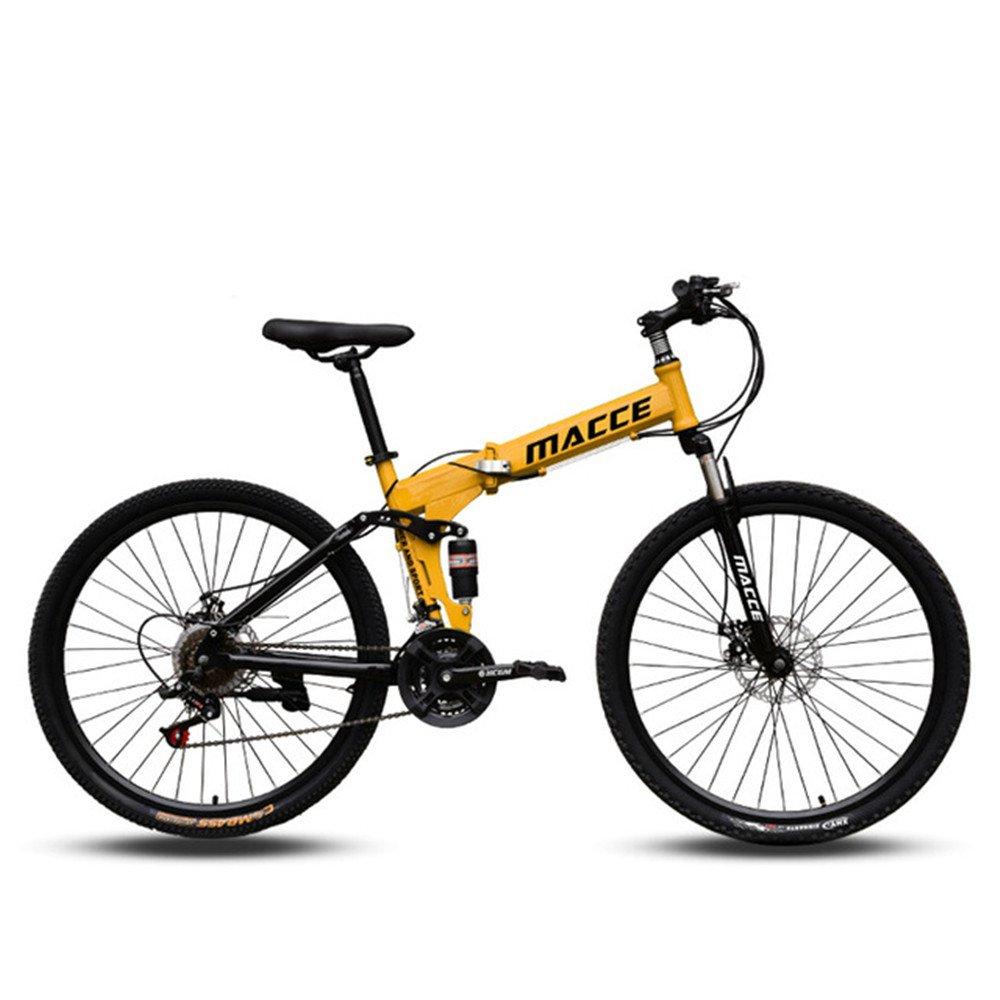 spoke wheel foldable mountain bike yellow