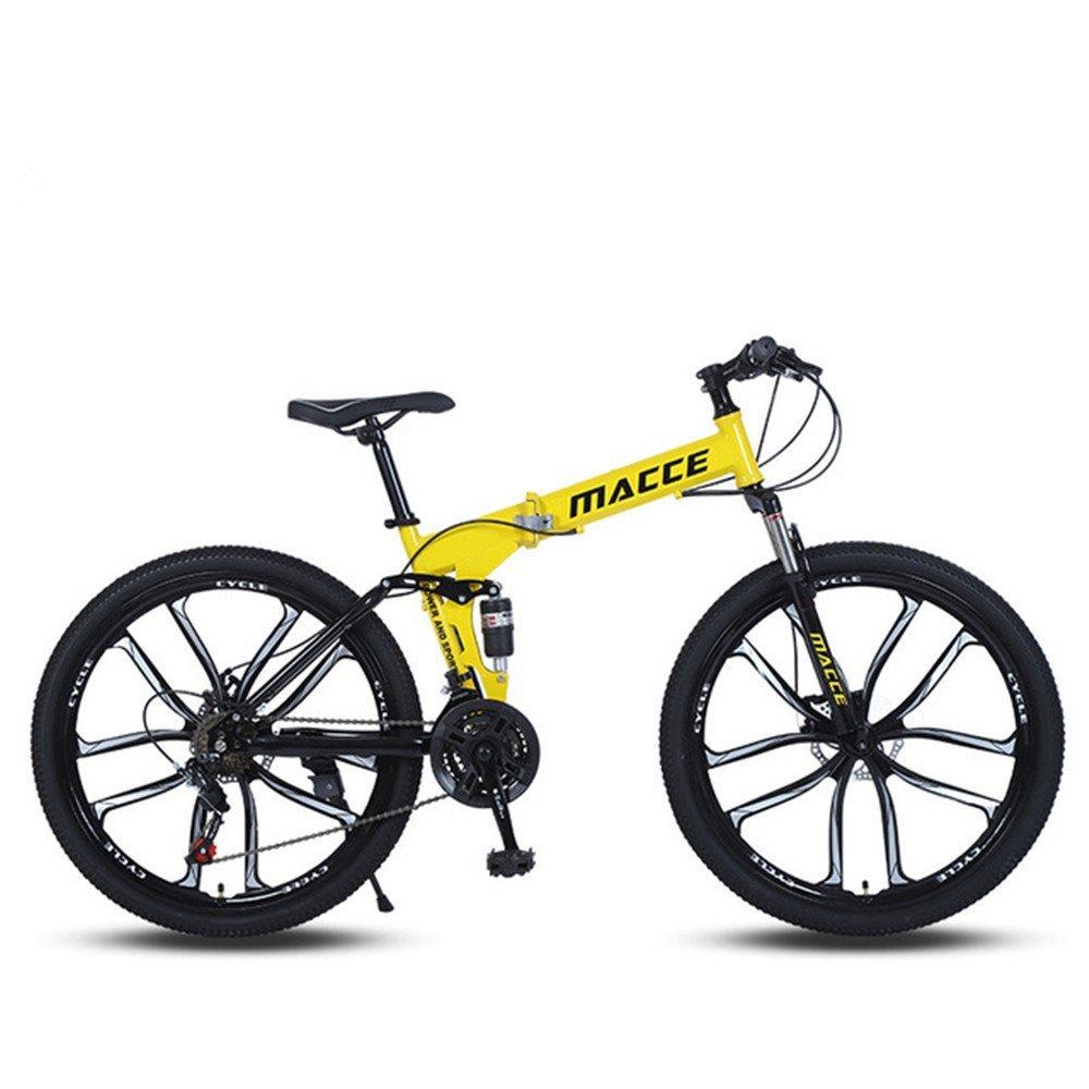 10 cutter wheels foldable mountain bike yellow