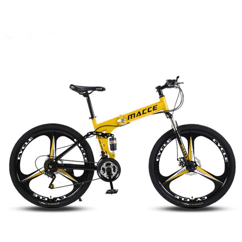 3 cutter wheels foldable mountain bike yellow