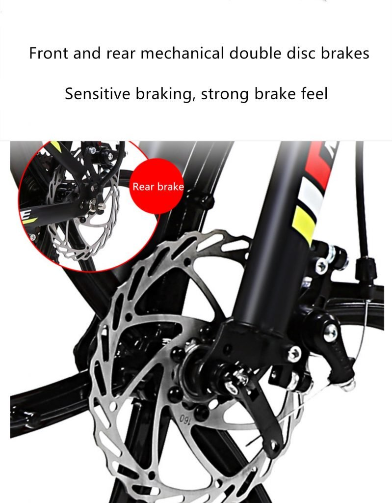 front and rear mechanical double disc brakes