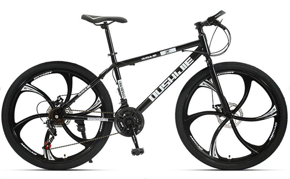 24-inch, 26-inch, Jaugar black 6 cutter wheels mountain bike 21, 24, 27, 30 speed