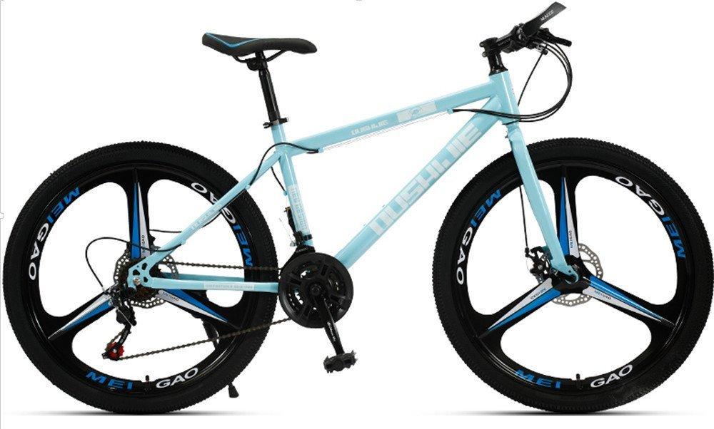 24-inch, 26-inch, Jaugar blue 3 cutter wheels mountain bike  21, 24, 27, 30 speed