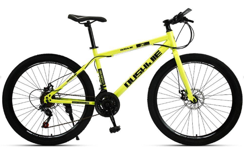 24-inch 26-inch spoke wheels mountain bike yellow 21, 24, 27 speed