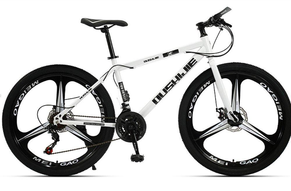 24-inch, 26-inch, Jaugar white 3 cutter wheels mountain bike  21, 24, 27, 30 speed