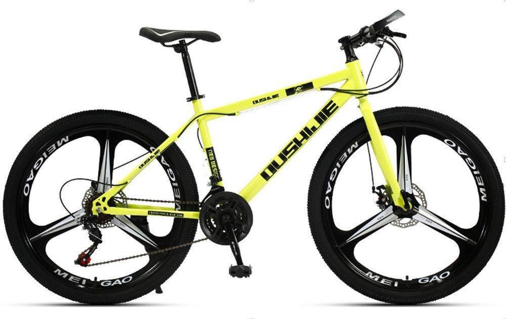 24-inch, 26-inch, Jaugar yellow 3 cutter wheels mountain bike  21, 24, 27, 30 speed