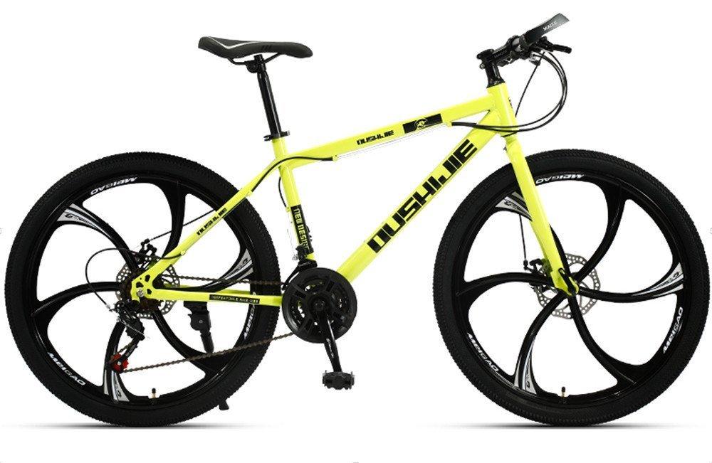 24-inch, 26-inch, Jaugar yellow  6 cutter wheels mountain bike 21, 24, 27, 30 speed