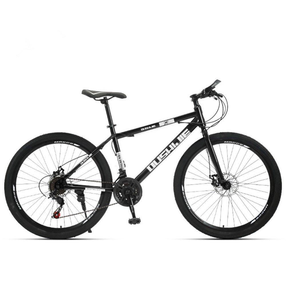 24-inch 26-inch spoke wheels mountain bike black white 21, 24, 27, 30 speed