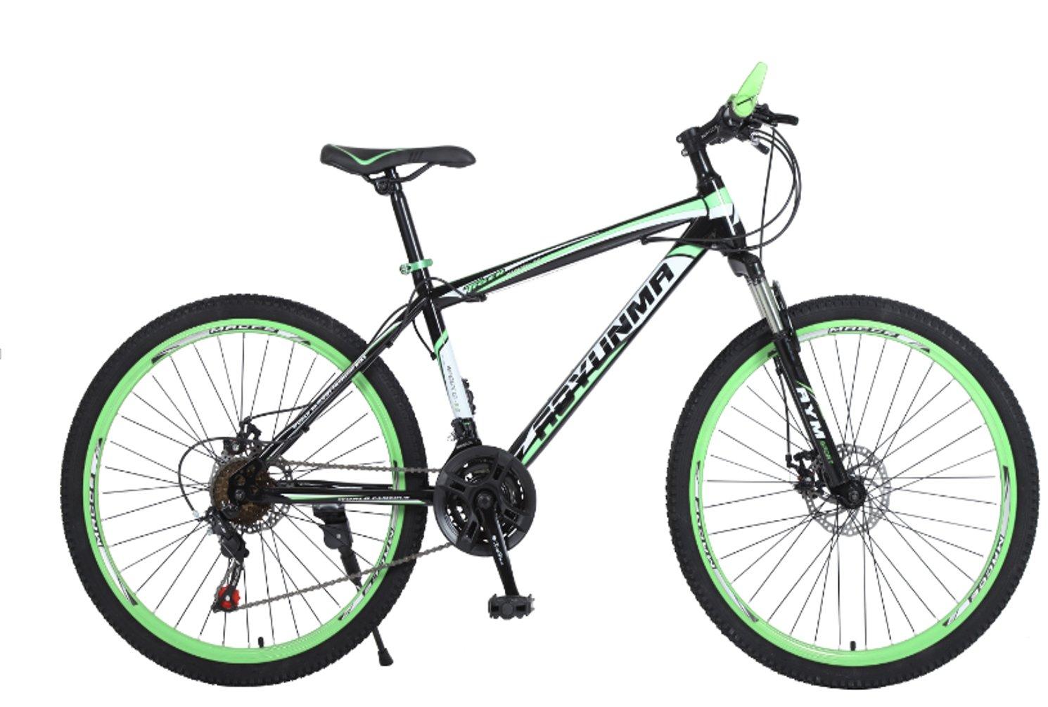 24-inch 26-inch Leopard black green spoke wheel mountain bike 21, 24, 27 speed