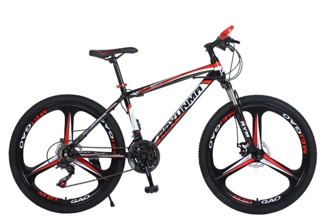 """24"""" 26"""" Lepoard black red 3 cutter wheels mountain bike 21, 24, 27 speed"""