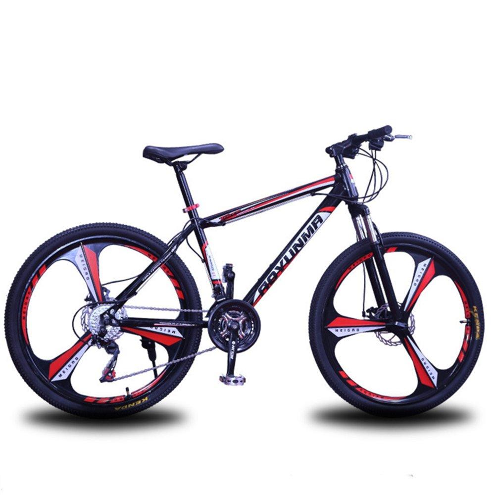 """24"""" 26"""" Lepoard purple red 3 cutter wheels mountain bike 21, 24, 27 speed"""