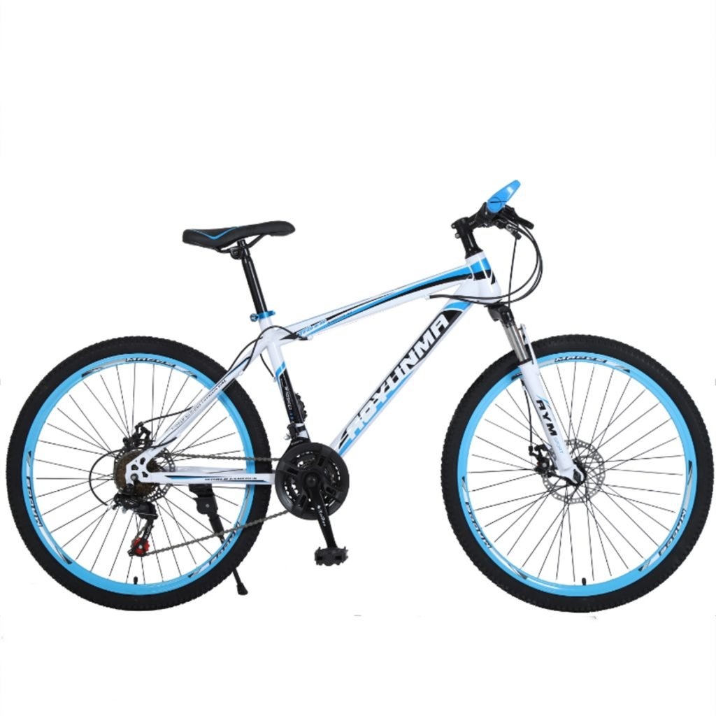 24-inch, 26-inch Leopard white blue spoke wheel mountain bike, 21-speed, 24-speed, 27-speed