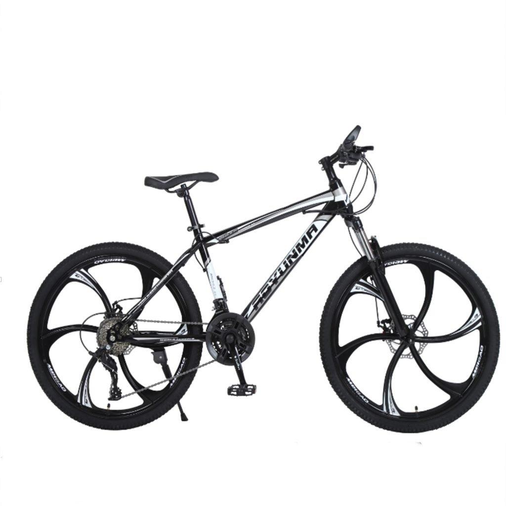 """24"""" 26"""" Lepoard black white 6 cutter wheels mountain bike 21, 24, 27 speed"""
