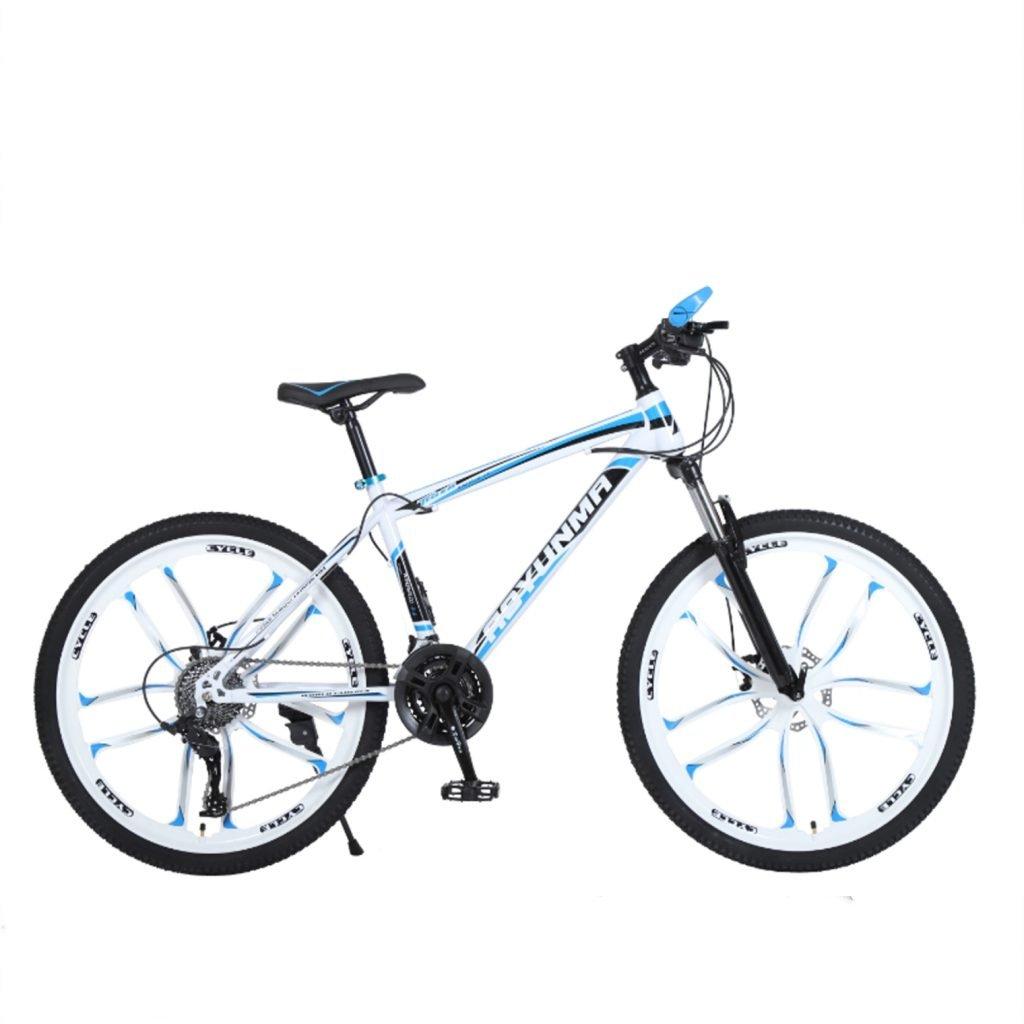 """24"""" 26"""" Leopard blue white 10 cutter wheel mountain bike 21, 24, 27 speed"""
