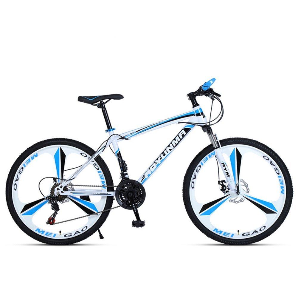"""24"""" 26"""" Lepoard white blue 3 cutter wheels mountain bike 21, 24, 27 speed"""