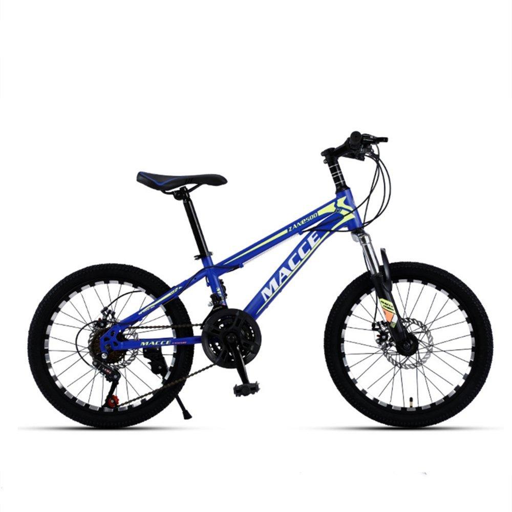 20-inch Milling surface wheels black blue kids mountain bike 21-speed