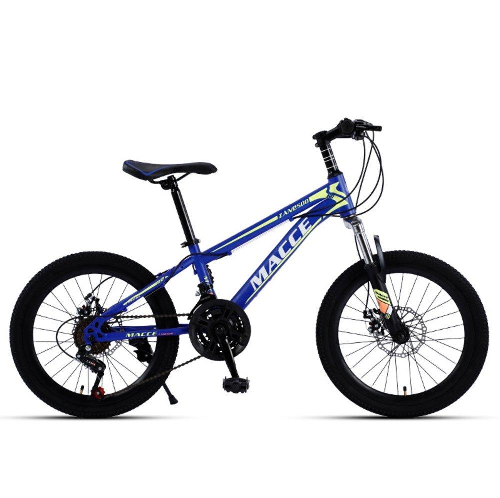 20-inch T cutter wheels black blue kids mountain bike 21-speed