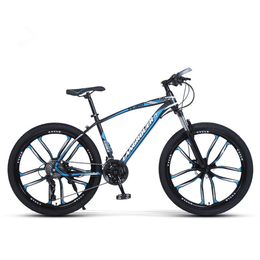 24-inch, 26-inch Wolf king black blue 10 cutter wheels mountain bike 21, 24, 27 speed