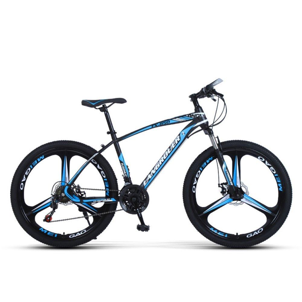 24-inch, 26-inch Wolf king black blue 3 cutter wheels mountain bike 21, 24, 27 speed