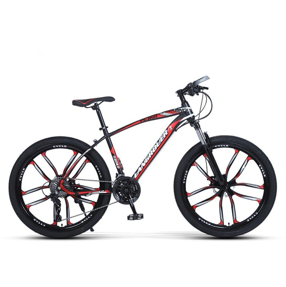 24-inch, 26-inch Wolf king black red 10 cutter wheels mountain bike 21, 24, 27 speed