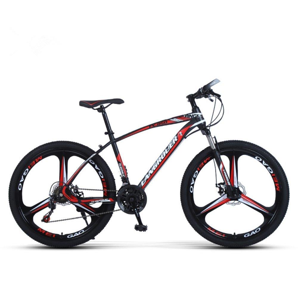 24-inch, 26-inch Wolf king black red 3 cutter wheels mountain bike 21, 24, 27 speed
