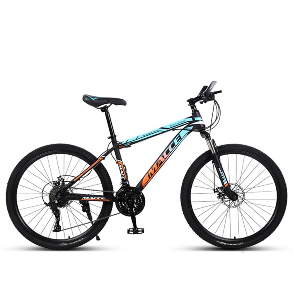 24-inch 26-inch discovery blue yellow spoke wheels mountain bike 21-speed 24-speed 27-speed