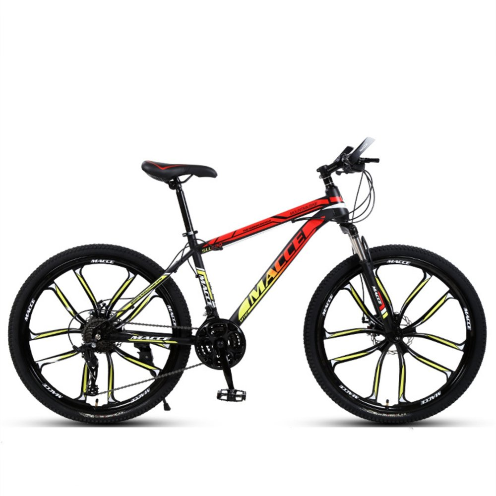 24-inch 26-inch discovery red yellow 10 cutter wheels mountain bike  21, 24, 27 speed