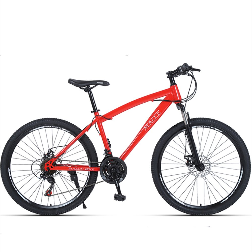 24-inch, 26-inch forest wolf red spoke wheels mountain bike 21-speed, 24-speed, 27-speed