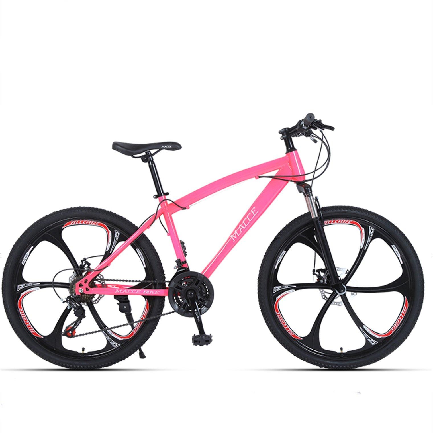 24-inch, 26-inch forest wolf pink 6 cutter wheels mountain bike 21-speed, 24-speed, 27-speed