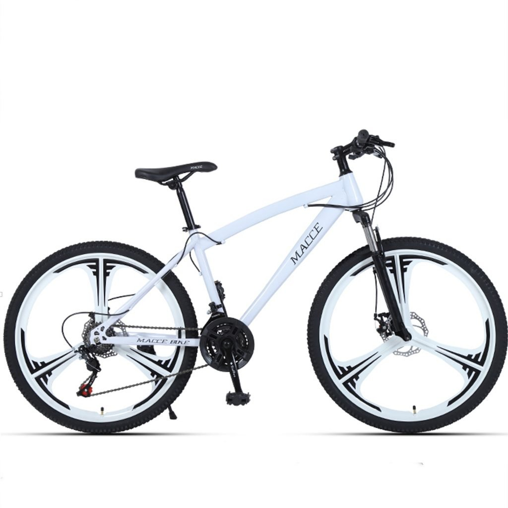 24-inch, 26-inch forest wolf white 3 cutter wheels mountain bike 21, 24, 27 speed