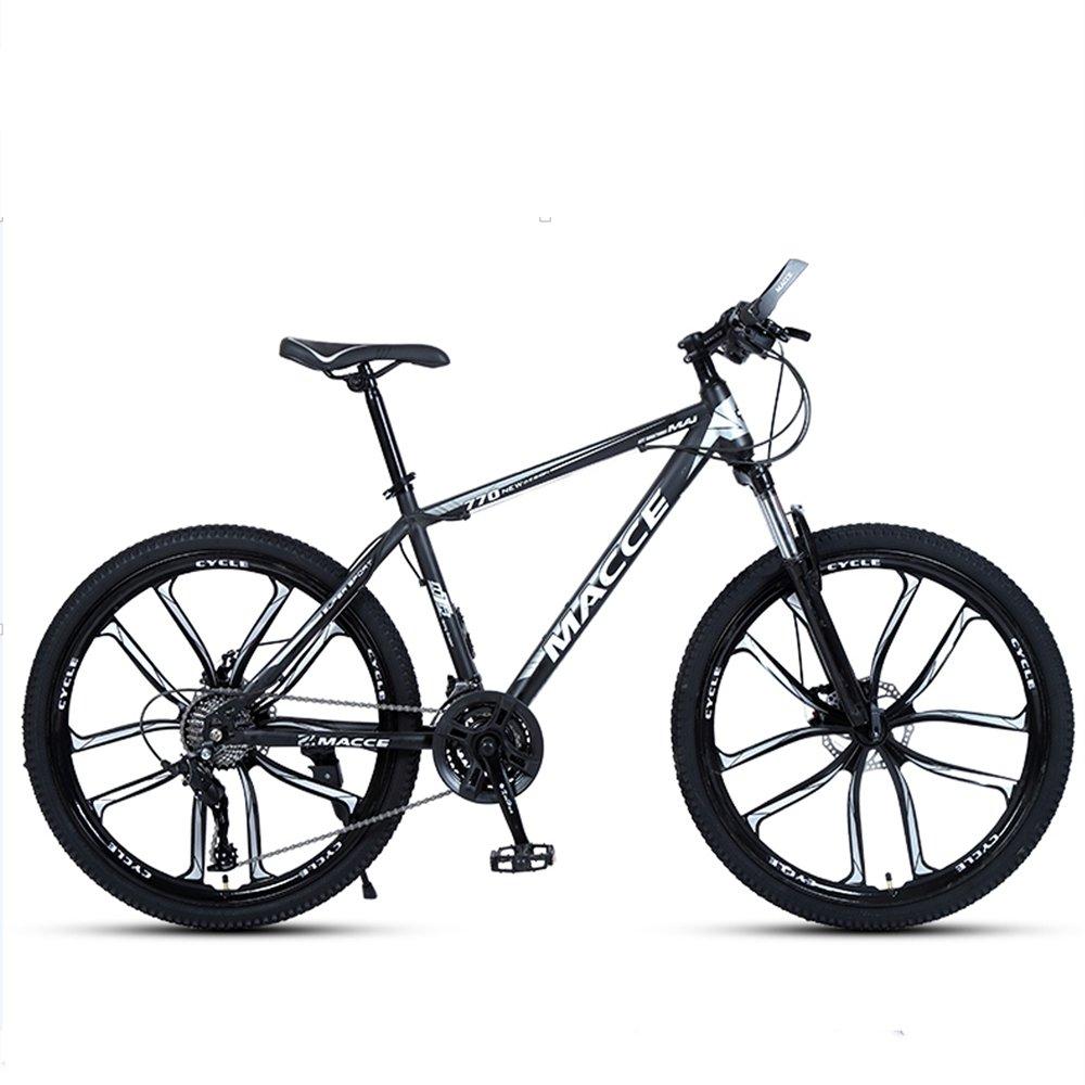 24-inch, 26-inch new warhawk black white 10 cutter wheels mountain bike 21-speed, 24-speed, 27-speed