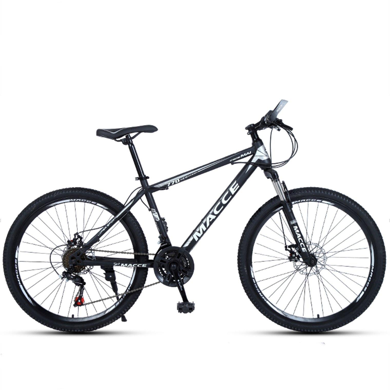 24-inch, 26-inch new warhawk black white spoke wheels mountain bike 21-speed, 24-speed, 27-speed