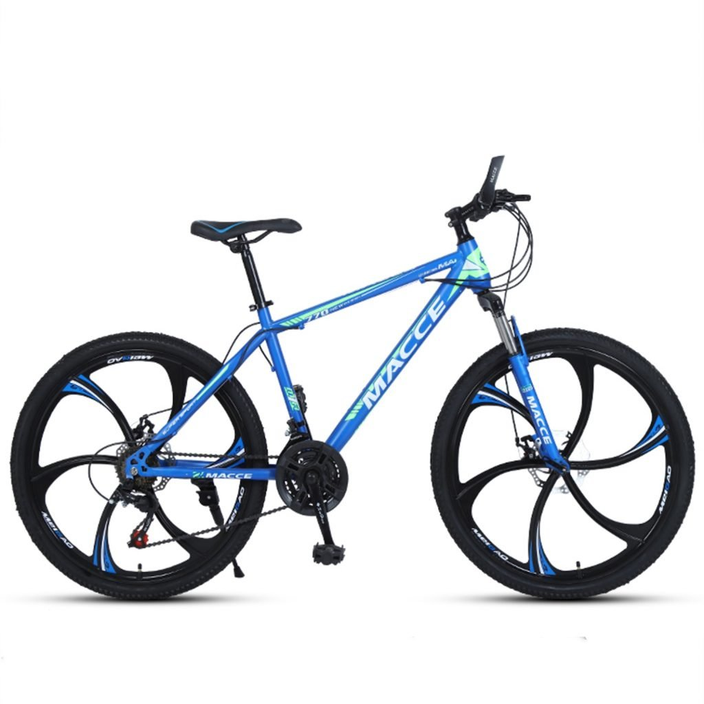 24-inch, 26-inch new warhawk blue green 6 cutter wheels mountain bike 21-speed, 24-speed, 27-speed