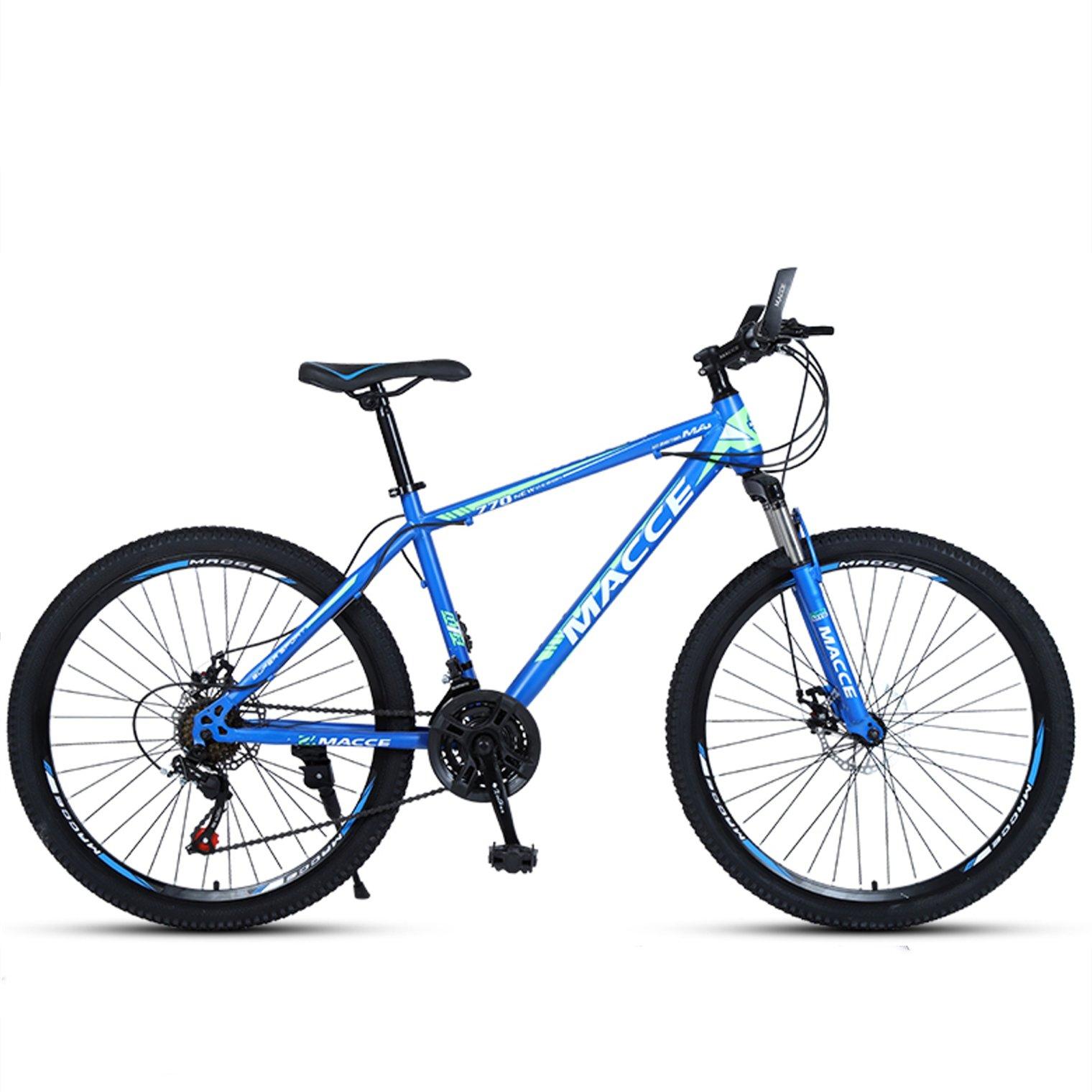 24-inch, 26-inch new warhawk blue spoke wheels mountain bike 21-speed, 24-speed, 27-speed