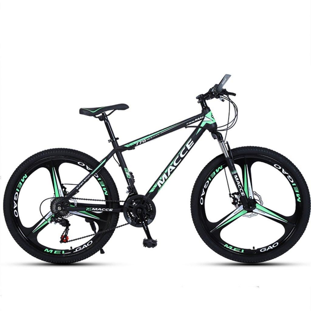 24-inch, 26-inch new warhawk black green 3 cutter wheels mountain bike 21-speed, 24-speed, 27-speed