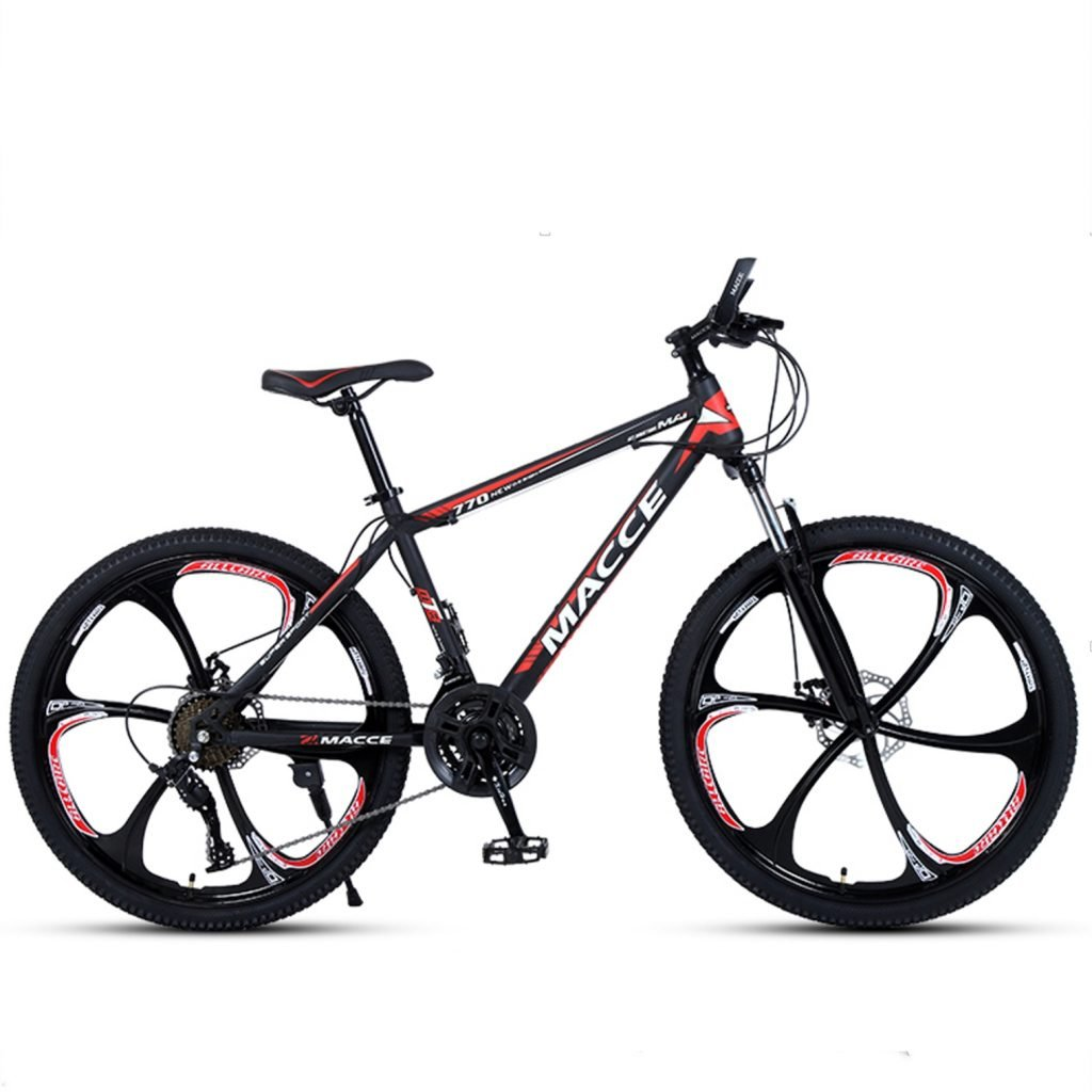 24-inch, 26-inch new warhawk black red green 6 cutter wheels mountain bike 21-speed, 24-speed, 27-speed
