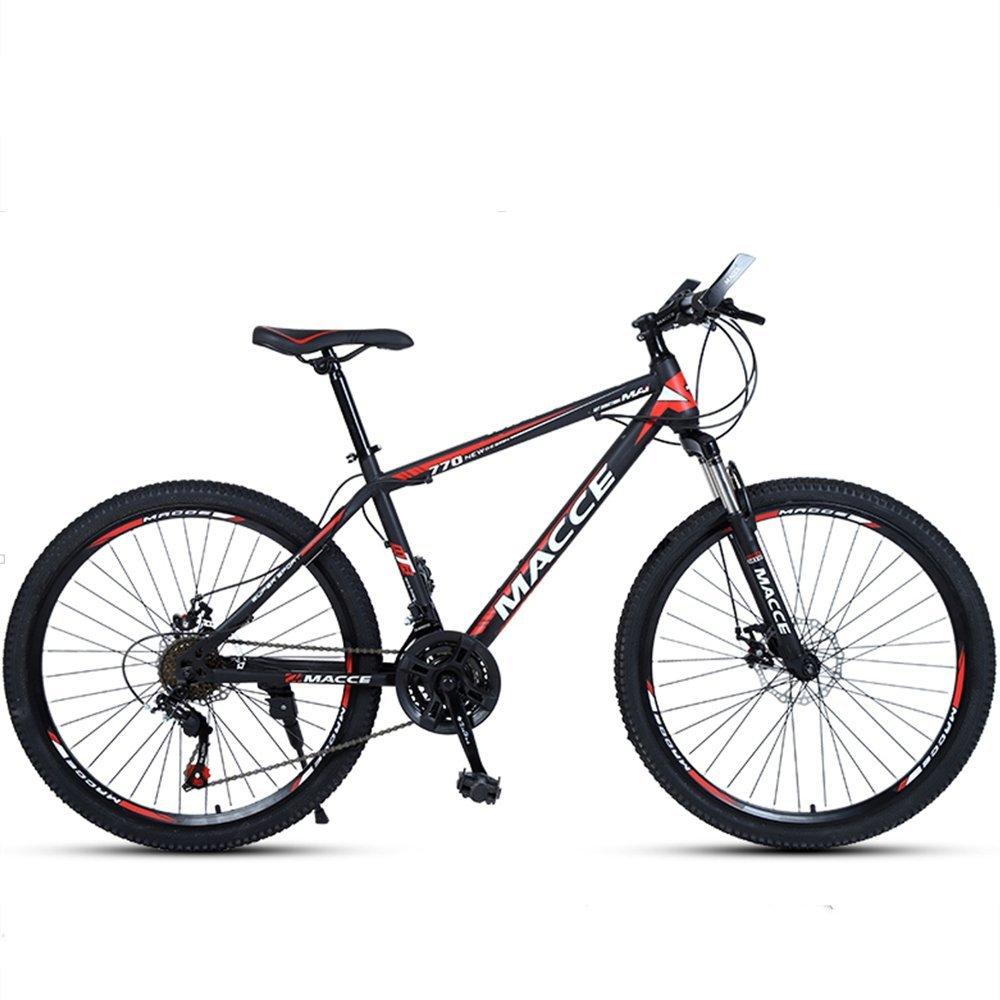 24-inch, 26-inch new warhawk black red spoke wheels mountain bike 21-speed, 24-speed, 27-speed